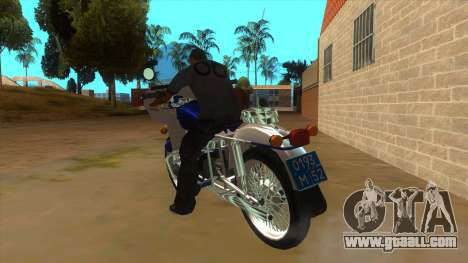 Ural Police for GTA San Andreas back left view