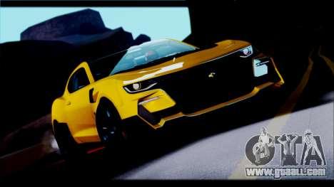 Chevrolet Camaro SS 2016 Bumblebee TF 5 for GTA San Andreas back view