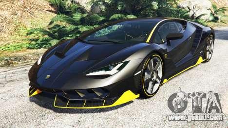 Lamborghini Centenario LP770-4 2017 [add-on] for GTA 5