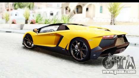 Lamborghini Aventador LP720-4 Roadster 2013 for GTA San Andreas left view