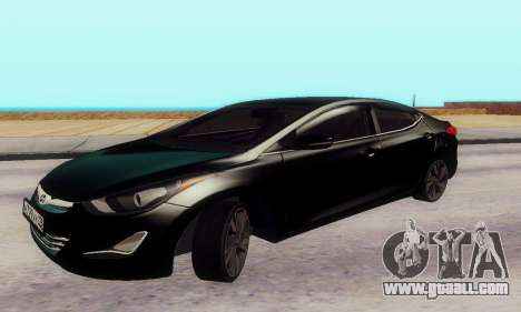 Hyundai Elantra 2015 for GTA San Andreas left view