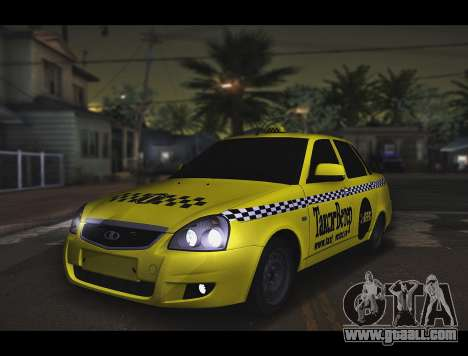Lada Priora Taxi-The Wind for GTA San Andreas