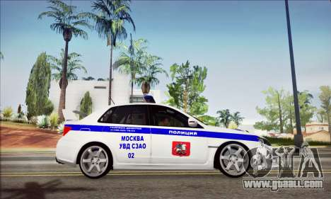Subaru Impreza WRX STI Police for GTA San Andreas right view