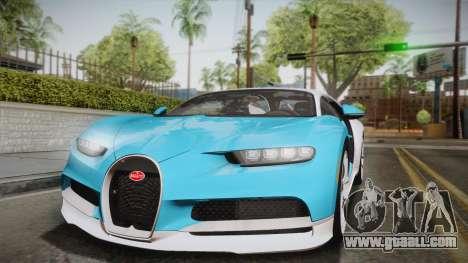 Bugatti Chiron 2017 for GTA San Andreas side view