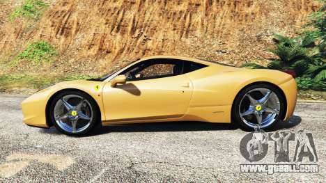 GTA 5 Ferrari 458 Italia [add-on] left side view