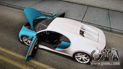 Bugatti Chiron 2017 for GTA San Andreas interior