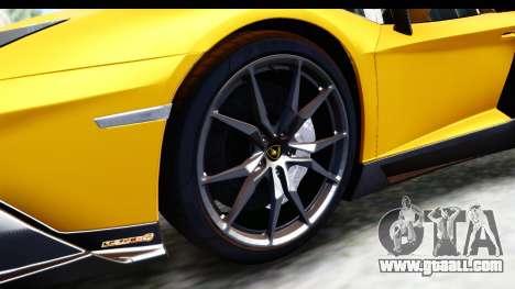 Lamborghini Aventador LP720-4 Roadster 2013 for GTA San Andreas back view
