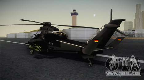 Eurocopter Tiger for GTA San Andreas left view