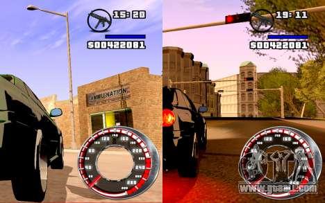 Speedometer GTA SA Style V16x9 (widescreen) for GTA San Andreas second screenshot