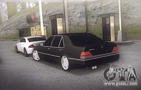 Mercedes-Benz W140 600sel for GTA San Andreas back left view