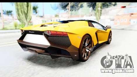 Lamborghini Aventador LP720-4 Roadster 2013 for GTA San Andreas back left view