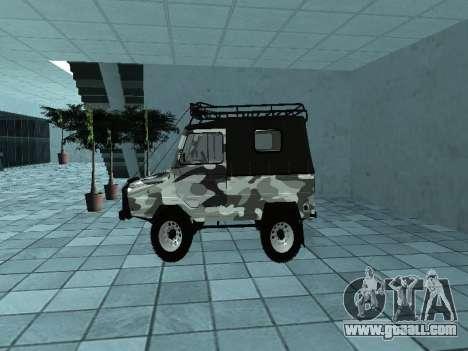 LUAZ 969М Winter camo for GTA San Andreas left view