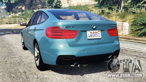 GTA 5 BMW 335i GT (F34) [add-on] rear left side view
