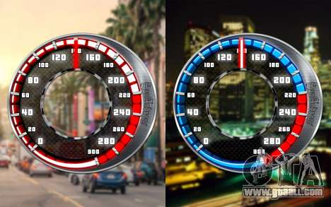 Speedometer GTA SA Style V16x9 (widescreen) for GTA San Andreas