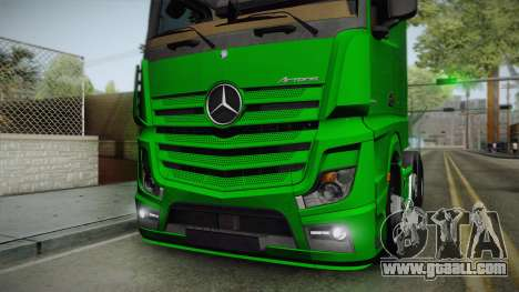 Mercedes-Benz Actros Mp4 6x2 v2.0 Bigspace for GTA San Andreas back view