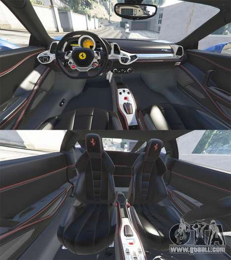 GTA 5 Ferrari 458 Italia v2.0 [replace] front right side view