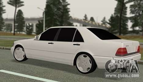 Mercedes-Benz W140 600sel for GTA San Andreas left view