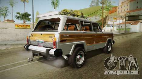 Jeep Grand Wagoneer Limite 1986 for GTA San Andreas left view