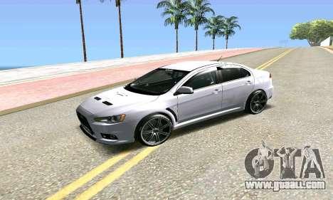 Mitsubishi Lancer for GTA San Andreas back view