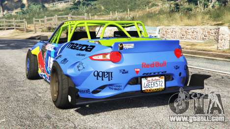 GTA 5 Mazda MX-5 (ND) RADBUL Mad Mike [replace] rear left side view