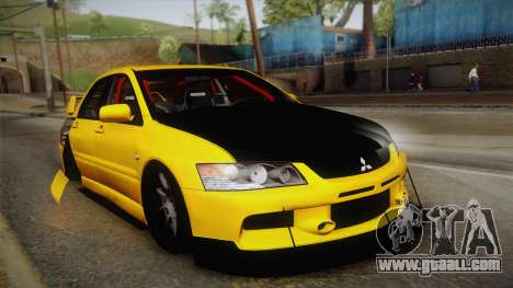 Mitsubishi Lancer Evolution IX Tuned for GTA San Andreas