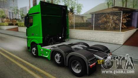 Mercedes-Benz Actros Mp4 6x2 v2.0 Bigspace for GTA San Andreas left view