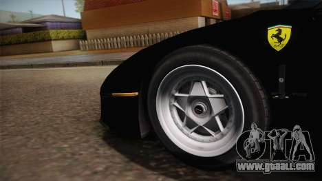 Ferrari F40 (US-Spec) 1989 IVF for GTA San Andreas back view