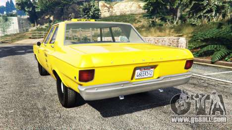 GTA 5 Plymouth Belvedere 1965 Taxi [replace] rear left side view