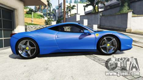 GTA 5 Ferrari 458 Italia v2.0 [replace] left side view