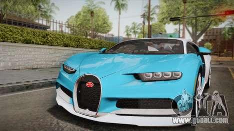 Bugatti Chiron 2017 for GTA San Andreas upper view
