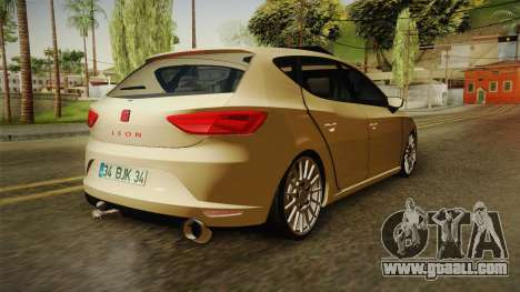 Seat Leon FR for GTA San Andreas back left view
