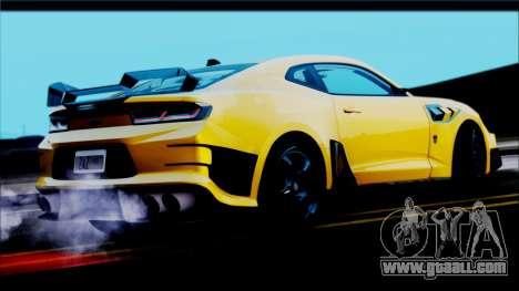Chevrolet Camaro SS 2016 Bumblebee TF 5 for GTA San Andreas left view