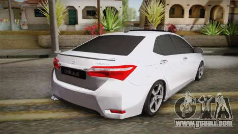 Toyota Corolla 2015 for GTA San Andreas left view