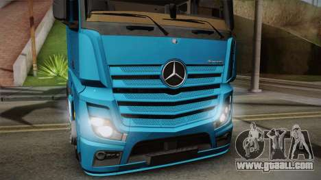 Mercedes-Benz Actros Mp4 6x2 v2.0 Gigaspace for GTA San Andreas back left view