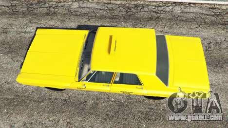 GTA 5 Plymouth Belvedere 1965 Taxi [replace] back view