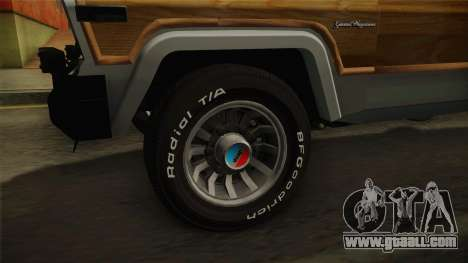 Jeep Grand Wagoneer Limite 1986 for GTA San Andreas back view