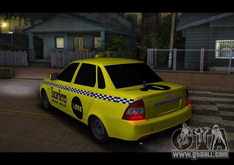 Lada Priora Taxi-The Wind for GTA San Andreas right view