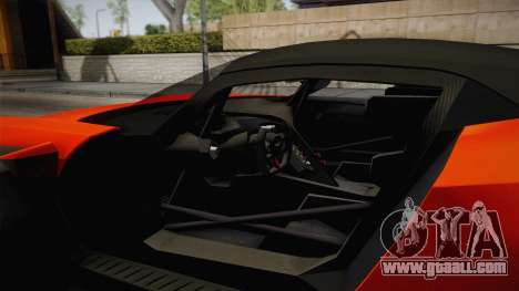 Aston Martin Vulcan for GTA San Andreas inner view