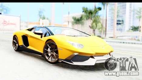 Lamborghini Aventador LP720-4 Roadster 2013 for GTA San Andreas