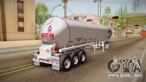 Trailer Americanos v3 for GTA San Andreas back left view