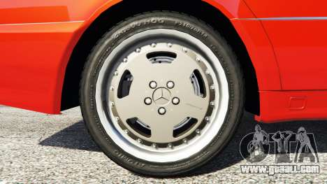 GTA 5 Mercedes-Benz W140 AMG orange signals [replace] rear right side view