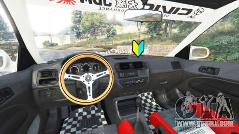 GTA 5 Honda Civic EK9 [kanjo edition] [replace] right side view