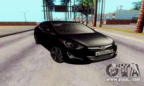 Hyundai Elantra 2015 for GTA San Andreas