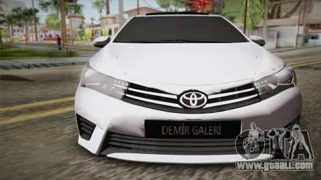 Toyota Corolla 2015 for GTA San Andreas