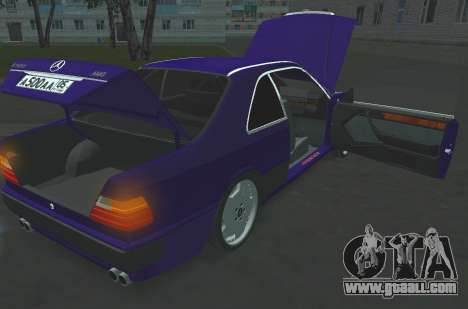 Mercedes-Benz E500 AMG for GTA San Andreas back left view