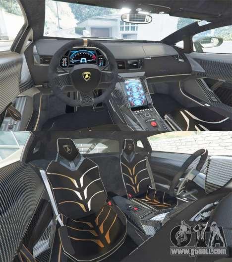 GTA 5 Lamborghini Centenario LP770-4 2017 v1.3 [r] rear right side view