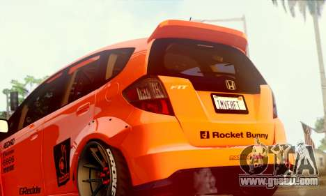 Honda Fit 2009 Rocket Bunny for GTA San Andreas right view
