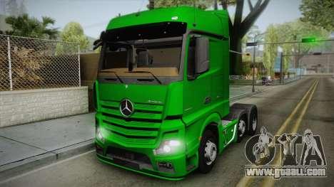 Mercedes-Benz Actros Mp4 6x2 v2.0 Bigspace for GTA San Andreas