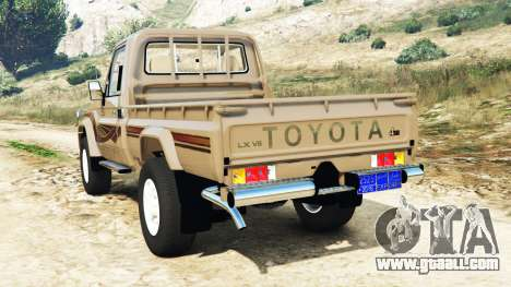 GTA 5 Toyota Land Cruiser (J79) 2016 rear left side view