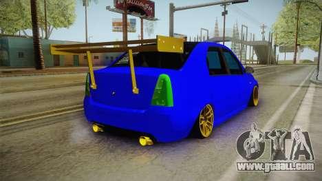 Dacia Logan Stance Haur Edition for GTA San Andreas back left view